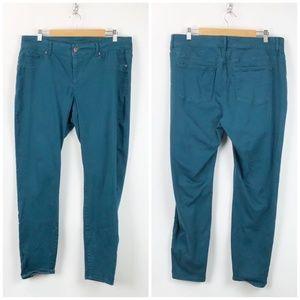 Maurices Teal Jeggings Skinny Denim Jeans